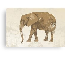 Vintage poster with elephant Canvas Print