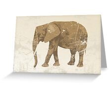 Vintage poster with elephant Greeting Card