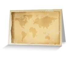 Old vintage world map Greeting Card