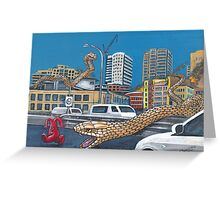 Snakes in the City Greeting Card