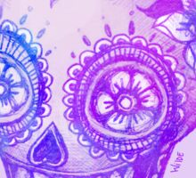 Sugar Skull in Purple Sticker
