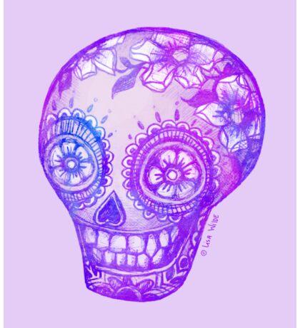 Sugar Skull in Purple Sticker
