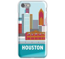 Houston, Texas - Skyline Illustration by Loose Petals iPhone Case/Skin