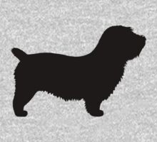 Glen of Imaal Terrier Silhouette(s) - Short Tail One Piece - Long Sleeve