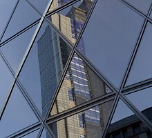 Gherkin building London Reflections by DavidHornchurch