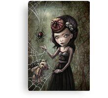 Black Widow Creepy Cute Girl Canvas Print