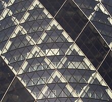 Gherkin Building London Cropped View by DavidHornchurch