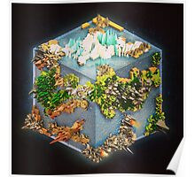 Cubed Earth Poster