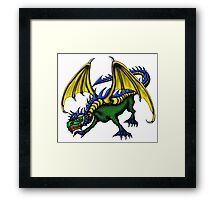 Dragon cartoon drawing art Framed Print