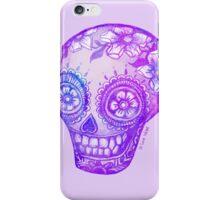 Sugar Skull in Purple iPhone Case/Skin