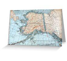 Vintage Map of Alaska (1921) Greeting Card
