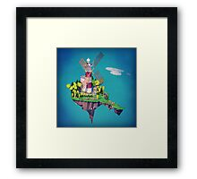 Floating Island Framed Print