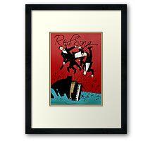 Red Song - Poster Art Framed Print