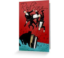 Red Song - Poster Art Greeting Card