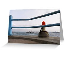 Daily commute - crossing the Bosphorus Greeting Card
