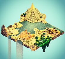 Cubed Floating Island by Neil Stratford