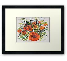 Poppies and Wildflowers - For Who Likes Them... Framed Print