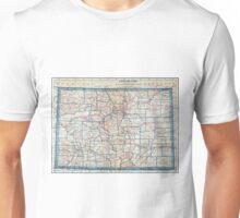 Vintage Map of Colorado (1921) Unisex T-Shirt