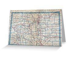Vintage Map of Colorado (1921) Greeting Card