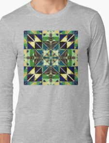 Colorful Tiles Abstract Long Sleeve T-Shirt