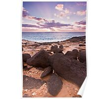 Sunset at the western coast of Cape Bridgewater Poster