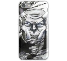 Somewhat miffed Orc iPhone Case/Skin