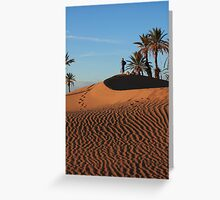 Sand dune Sunset Greeting Card