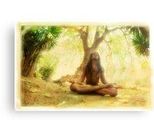 Yoga meditation by the tree Metal Print