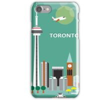 Toronto, Canada - Skyline Illustration by Loose Petals iPhone Case/Skin