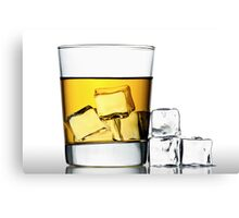 glass of whisky on the rocks Canvas Print