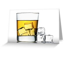 glass of whisky on the rocks Greeting Card