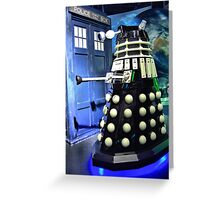 The TARDIS and a Dalek Greeting Card