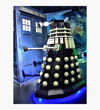 The TARDIS and a Dalek Photographic Print