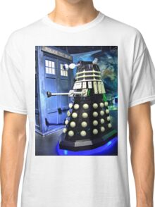 The TARDIS and a Dalek Classic T-Shirt