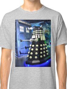 The TARDIS and a Dalek Classic T-Shirt