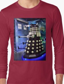The TARDIS and a Dalek Long Sleeve T-Shirt