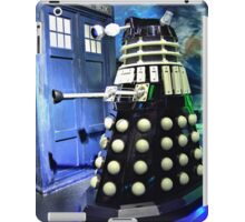 The TARDIS and a Dalek iPad Case/Skin