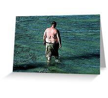 Thoughtfuly Wading in Maine Greeting Card
