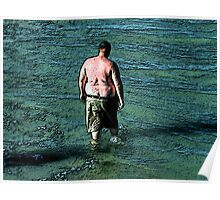 Thoughtfuly Wading in Maine Poster
