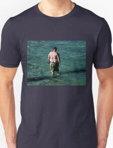 Thoughtfuly Wading in Maine T-Shirt