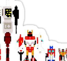 8 bit robots Sticker