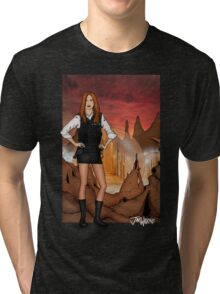 Amy Pond & Gallifrey V1 Tri-blend T-Shirt