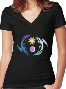 Equestria Flag - Friendship is Magic Women's Fitted V-Neck T-Shirt