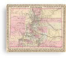 Vintage Map of Colorado (1880) Canvas Print