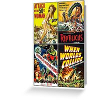 1950s Sci-Fi Poster Collection #2 Greeting Card