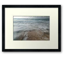 Ocean Run Off Framed Print