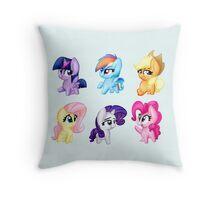 Mane 6 Cuties Throw Pillow