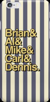 The Beach Boys- Brian&Al&Mike&Carl&Dennis by TheeFunk
