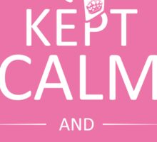Kept Calm and Now I'm a Survivor (on Pink) Sticker