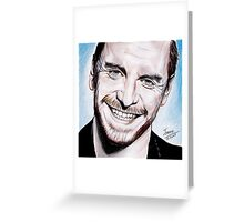 Michael Fassbender - smile ! Greeting Card